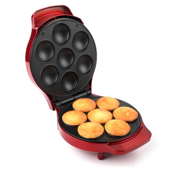 American Originals EK3541AOAR Cupcake Maker for 7 Cupcakes, 1000W, Metallic Red
