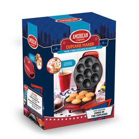 American Originals EK3541AOAR Cupcake Maker for 7 Cupcakes, 1000W, Metallic Red Thumbnail 6