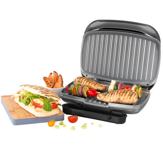 Salter® Cosmos Health Grill | 1000 W | Non-Stick Coating | Removable Drip Tray