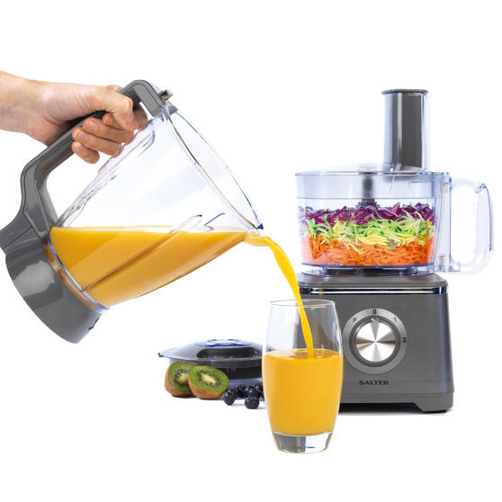 Salter® EK4382GUNMETAL Cosmos Food Processor and Blender   600 W   2 Speed Settings with Pulse Function
