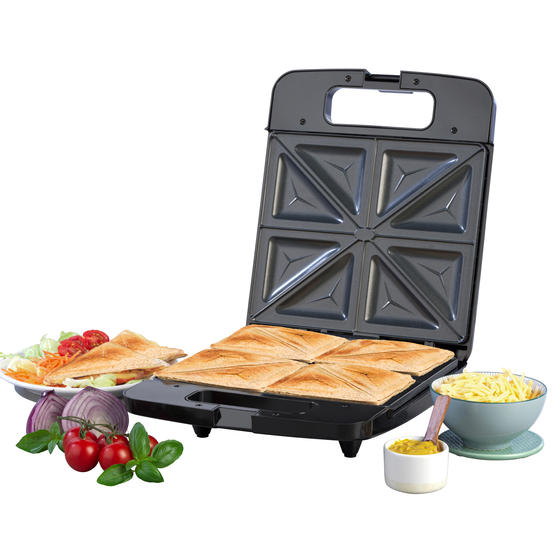 Progress® EK4424P Family Toastie Maker | 1400 W | Automatic Temperature Control | Non-Stick | Creates up to 4 Different Toasties at Once