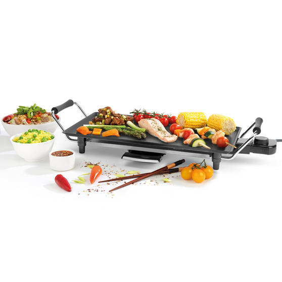 Giles & Posner® EK4428G Teppanyaki Grill, 43 cm | Non-Stick Coated Plate | 2000 W | Perfect For Parties Or Family Gatherings