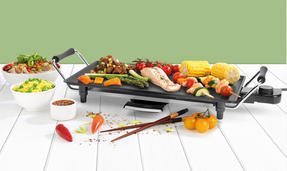 Giles & Posner® EK4428G Teppanyaki Grill, 43 cm   Non-Stick Coated Plate   2000 W   Perfect For Parties Or Family Gatherings Thumbnail 2