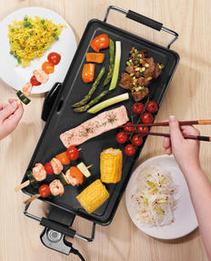 Giles & Posner® EK4428G Teppanyaki Grill, 43 cm   Non-Stick Coated Plate   2000 W   Perfect For Parties Or Family Gatherings Thumbnail 3