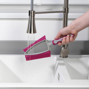 Kleeneze® KL081872EU7 Dual Rubber Head Dustpan And Brush with Squeegee Edge, Pink/Grey Thumbnail 9