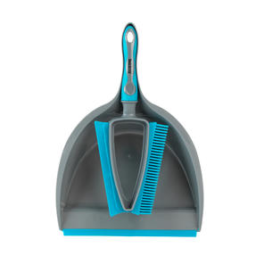 Beldray® LA081278EU7 Pet Plus+ 2 In 1 Lift & Trap Dual Rubber Head Dustpan And Brush with Squeegee Edge, Turquoise/Grey Thumbnail 7