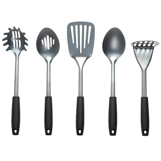 Russell Hobbs® RH01722 Pearlised Kitchen Utensil Set| Stainless Steel | 5 Piece | Grey