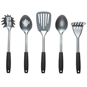 Russell Hobbs® RH01722 Pearlised Kitchen Utensil Set| Stainless Steel | 5 Piece | Grey Thumbnail 1