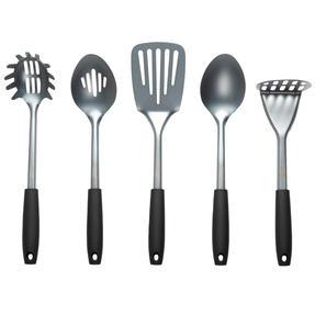 Russell Hobbs® RH01722 Pearlised Kitchen Utensil Set| Stainless Steel | 5 Piece | Grey