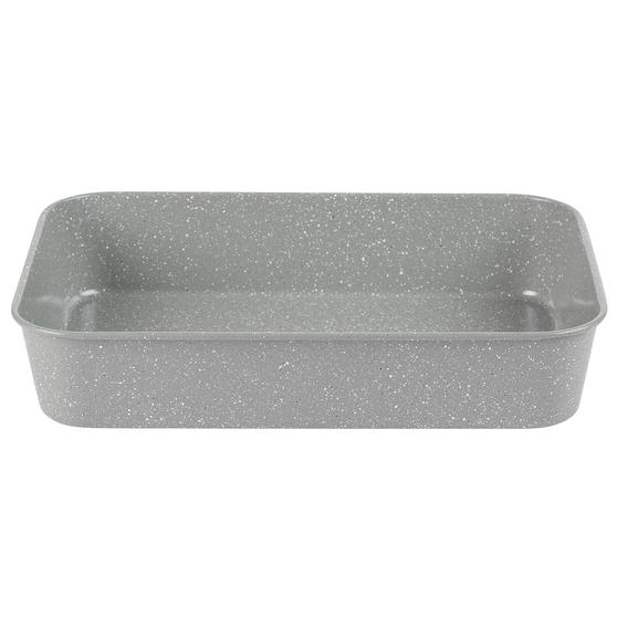 Salter® BW10156 Marblestone Deep Roaster | PFOA Free | Carbon Steel | 40cm | Grey Marble