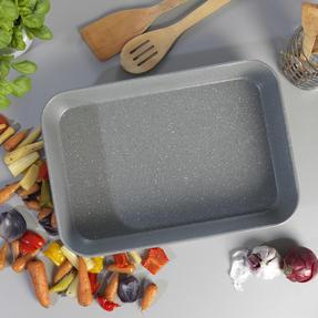 Salter® BW10156 Marblestone Deep Roaster | PFOA Free | Carbon Steel | 40cm | Grey Marble Thumbnail 4