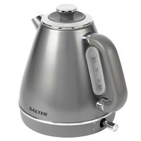 Salter® EK4296GUNMETAL Cosmos Kettle | 1.7 Litre | 3000W, Gunmetal Grey/Silver Accents | 360 ° Swivel Base | Auto Shut Off | Boil Dry Sensor | Strix Controller
