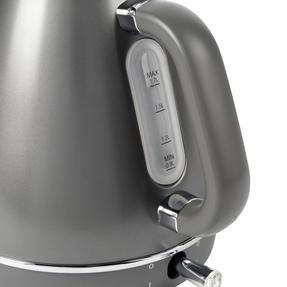 Salter® EK4296GUNMETAL Cosmos Kettle   1.7 Litre   3000W, Gunmetal Grey/Silver Accents   360 ° Swivel Base   Auto Shut Off   Boil Dry Sensor   Strix Controller Thumbnail 6