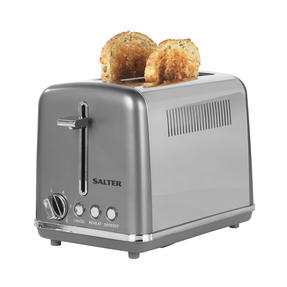 Salter® EK4326GUNMETAL 2-Slice Cosmos Toaster | Defrost, Reheat and Cancel Functions | 6 Levels Of Variable Browning Control | Removable Crumb Tray | 870 W | Gunmetal