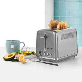 Salter® EK4326GUNMETAL 2-Slice Cosmos Toaster   Defrost, Reheat and Cancel Functions   6 Levels Of Variable Browning Control   Removable Crumb Tray   870 W   Gunmetal Thumbnail 2