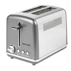 Salter® EK4326GUNMETAL 2-Slice Cosmos Toaster   Defrost, Reheat and Cancel Functions   6 Levels Of Variable Browning Control   Removable Crumb Tray   870 W   Gunmetal Thumbnail 4
