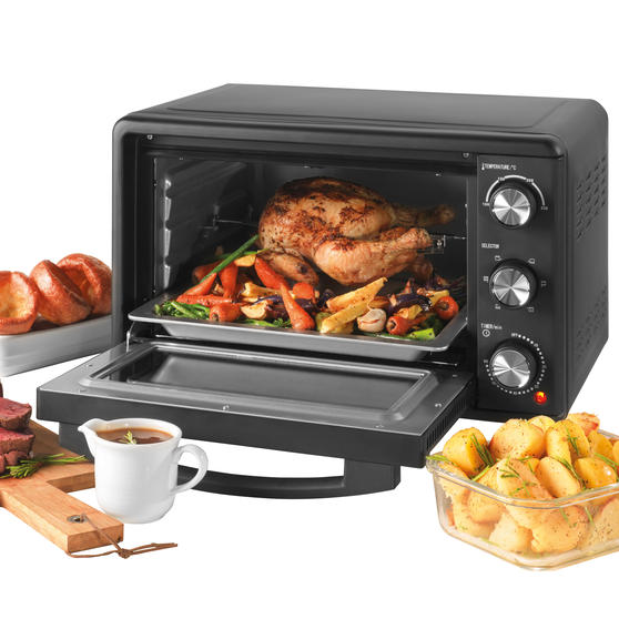 Salter® EK4360 25 Litre Toaster Oven  | Compact Design | Variable Temperature Control | 60-Minute Timer | Automatic Safety Shut-Off