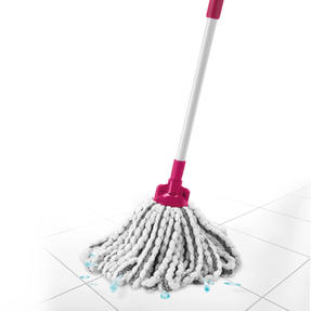 Kleeneze® KL077479UFEU7 AntiBac Telescopic Microfibre Mop With Replacement Mop Head| Treated with Anti-Bac Protection | Extendable Handle 128cm | Highly Absorbent Thumbnail 4