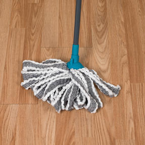 Beldray® LA049179UFEUB AntiBac Telescopic Cloth Mop With Replacement Mop Head| Treated with Anti-Bac Protection | 128cm Extendable Handle | Super Absorbent Thumbnail 7