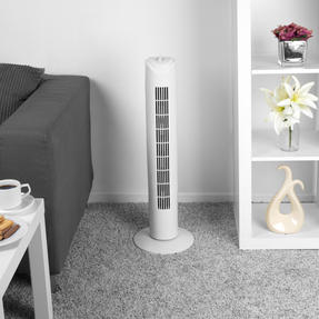 Beldray® EH3410 32 Inch Tower Fan With Timer | Built In Timer | 3 Speed Settings | Oscillation Function | White Thumbnail 5