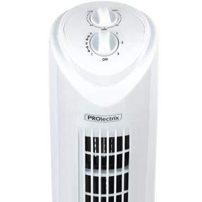Prolectrix® EH3410PRO 32 Inch Tower Fan With Timer   Built In Timer   3 Speed Settings   Oscillation Function   White Thumbnail 4
