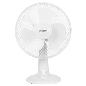 """Beldray® EH3401 12"""" Desk Fan with 3 Speed Settings and Adjustable Head   35 W   Ideal for Homes/Offices/Personal Workspace   White Thumbnail 1"""