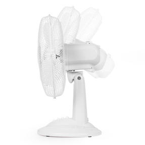 """Beldray® EH3401 12"""" Desk Fan with 3 Speed Settings and Adjustable Head   35 W   Ideal for Homes/Offices/Personal Workspace   White Thumbnail 4"""