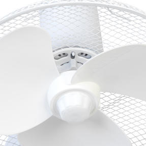 """Beldray® EH3401 12"""" Desk Fan with 3 Speed Settings and Adjustable Head   35 W   Ideal for Homes/Offices/Personal Workspace   White Thumbnail 6"""