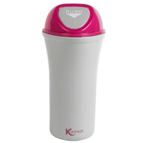 Kleeneze® Mini Car Bin with Attachment Clip, Pink/Grey