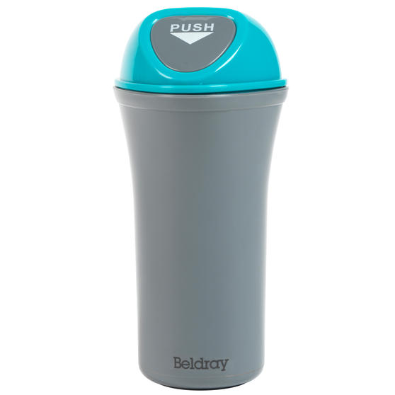 Beldray® LA082077EU7 Valet Mini Car Bin with Clip, Grey/Blue