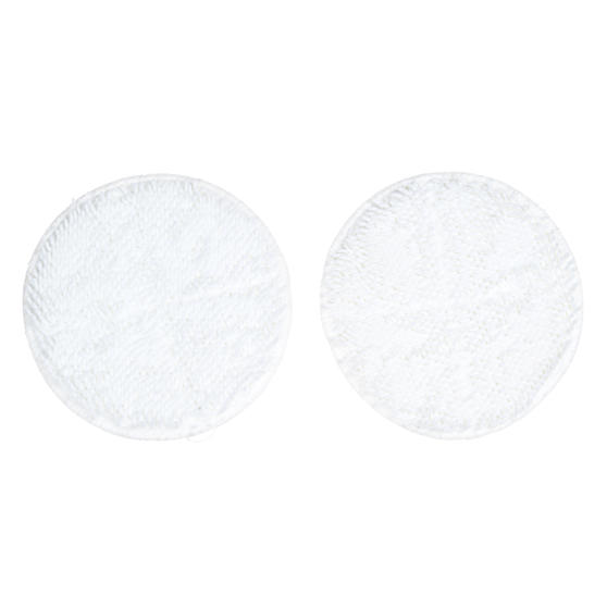 Beldray® BEL01209 Spinmax Cordless Floor Cleaner Replacement Polishing Pads | Ideal for Wood or Hard Floor Surfaces | White | Set Of 2 | Machine Washable