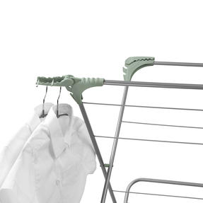 Beldray® LA077578TS 3 Tier Clothes Airer with Hanging Hooks| 15 m of Drying Space | Foldable | Holds 15 kg | Abstract Green Thumbnail 5