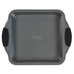 Russell Hobbs® RH01913EU Pearlised Square Pan| Non-Stick | Carbon Steel | 27cm | Silicone Handles | Matte Grey Thumbnail 2