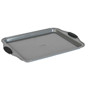 Russell Hobbs® RH01914EU Pearlised Baking Tray |Non-Stick | Carbon Steel | 38cm | Silicone Handles | Matte Grey Thumbnail 2