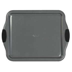 Russell Hobbs® RH01914EU Pearlised Baking Tray |Non-Stick | Carbon Steel | 38cm | Silicone Handles | Matte Grey Thumbnail 3