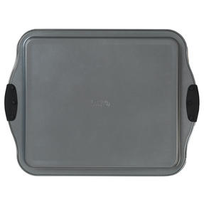 Russell Hobbs® RH01914EU Pearlised Baking Tray |Non-Stick | Carbon Steel | 38cm | Silicone Handles | Matte Grey Thumbnail 4