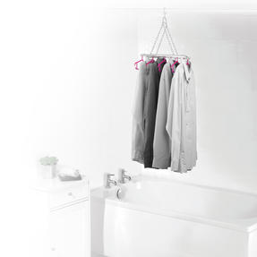 Kleeneze® KL066633EU Multi Shirt Hanger | Holds Up To 8 Shirts| All In One Hanging and Drying Solution | Grey/Pink Thumbnail 2