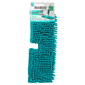 Beldray® LA080196UFEU7 Anti Bac Double Sided Spray Mop Head Refill | Treated with Anti-Bac Protection | Can Be Used Wet or Dry