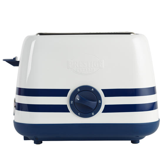 Prestige 46019 2 Slice Toaster with Removable Crumb Tray   Cancel and Defrost Function   Vintage Blue