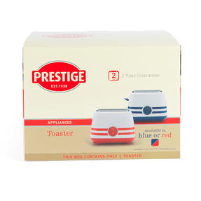Prestige 46019 2 Slice Toaster with Removable Crumb Tray   Cancel and Defrost Function   Vintage Blue Thumbnail 2