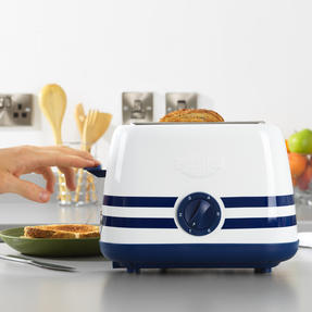 Prestige 46019 2 Slice Toaster with Removable Crumb Tray   Cancel and Defrost Function   Vintage Blue Thumbnail 3