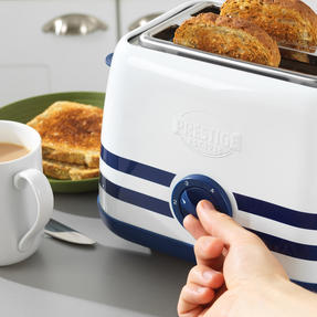 Prestige 46019 2 Slice Toaster with Removable Crumb Tray   Cancel and Defrost Function   Vintage Blue Thumbnail 4