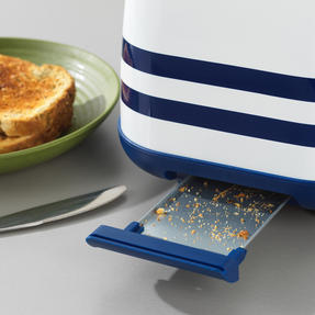 Prestige 46019 2 Slice Toaster with Removable Crumb Tray   Cancel and Defrost Function   Vintage Blue Thumbnail 6