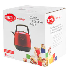 Prestige 46266 Heritage Kettle | Red | Non-Slip Feet | Fast Boil | Stay Cool Handles Thumbnail 8