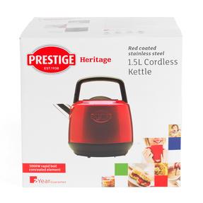Prestige 46266 Heritage Kettle | Red | Non-Slip Feet | Fast Boil | Stay Cool Handles Thumbnail 9