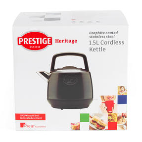 Prestige 46269 Heritage Kettle   Grey   Non-Slip Feet   Fast Boil   Stay Cool Handles Thumbnail 9