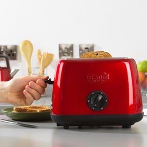 Prestige 46269 2 Slice Toaster with Removable Crumb Tray   Cancel and Defrost Function   6 Variable Browning Options   Heritage Red Thumbnail 2