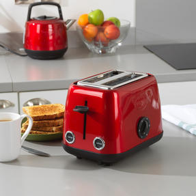 Prestige 46269 2 Slice Toaster with Removable Crumb Tray   Cancel and Defrost Function   6 Variable Browning Options   Heritage Red Thumbnail 3