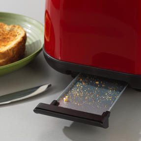 Prestige 46269 2 Slice Toaster with Removable Crumb Tray   Cancel and Defrost Function   6 Variable Browning Options   Heritage Red Thumbnail 5