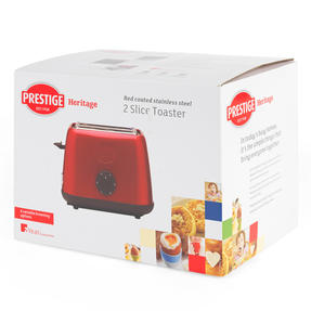 Prestige 46269 2 Slice Toaster with Removable Crumb Tray   Cancel and Defrost Function   6 Variable Browning Options   Heritage Red Thumbnail 8